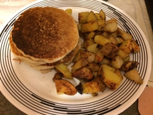 pancakes and potatoes